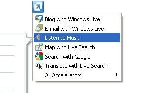 IE 8 Context Menu